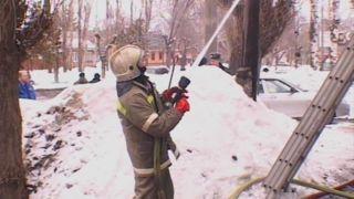 На бульваре Энтузиастов горел частный дом