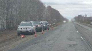 В Мичуринском районе на трассе произошла авария с участием трех автомобилей