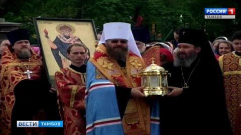 В Тамбов доставили ковчег с мощами Спиридона Тримифунтского