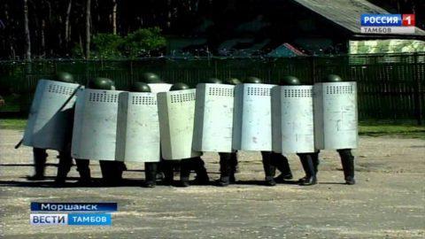 Как в Моршанске сотрудники УФСИН казаков встречали