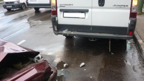 В Мичуринске Hyundai сбил пешехода и «влетел» в иномарку