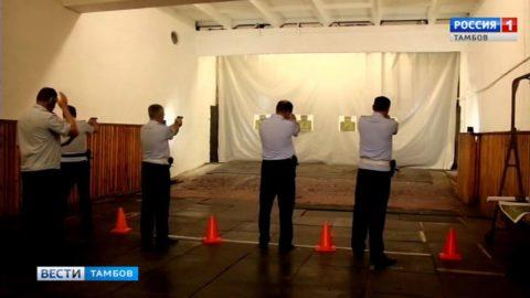 Высокие чины тамбовской полиции показали свои умения в спортзале и тире