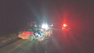 Иномарка «врезалась» в трактор в Петровском районе