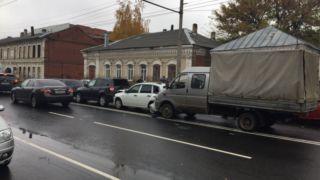 В областном центре столкнулись 4 автомобиля: пострадавших нет