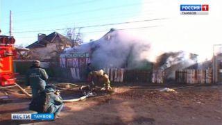 В Тамбове полностью сгорел жилой дом