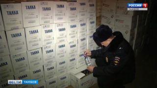 40 тысяч литров контрафактного алкоголя изъяли тамбовские полицейские