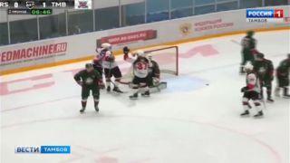 Тамбовские хоккеисты разгромили казанскую дружину