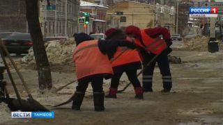 Дороги Тамбова освобождают от прошлогоднего снега