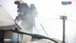 Пожар в жилом доме в центре Тамбова