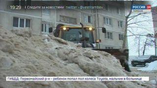 В Тамбове увеличили количество организаций, убирающих снег во дворах