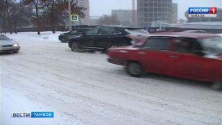 В Тамбове потеплело и вновь пошёл снег