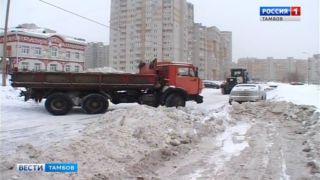 В микрорайон Московский на четыре дня пришла снегоуборочная техника