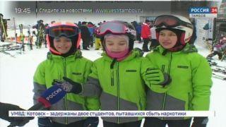 Быстрее автомобиля: в Тамбове провели соревнования по горным лыжам и сноубордингу