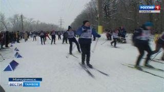 Мичуринские лыжники покоряют Конскую гору