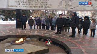 Представители делегации Люксембурга возложили цветы к монументу Вечный огонь и почтили память военнопленных земляков на станции Рада