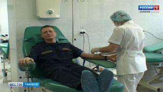 На станции переливания крови ждут ответственных доноров