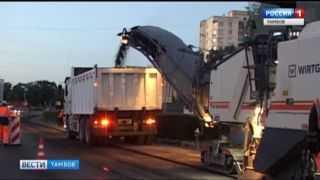 Ночной ремонт дорог возмущает некоторых тамбовчан, но иначе нельзя, уверяют строители