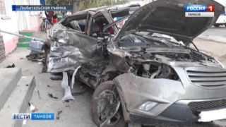 Страшная авария в Моршанске: видео с места ДТП