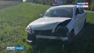 Прокол колеса привел к ДТП в Петровском районе